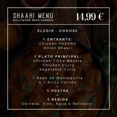 Shahi Online Menu BOLLYWOOD
