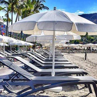 Sun beds at Anfi Beach